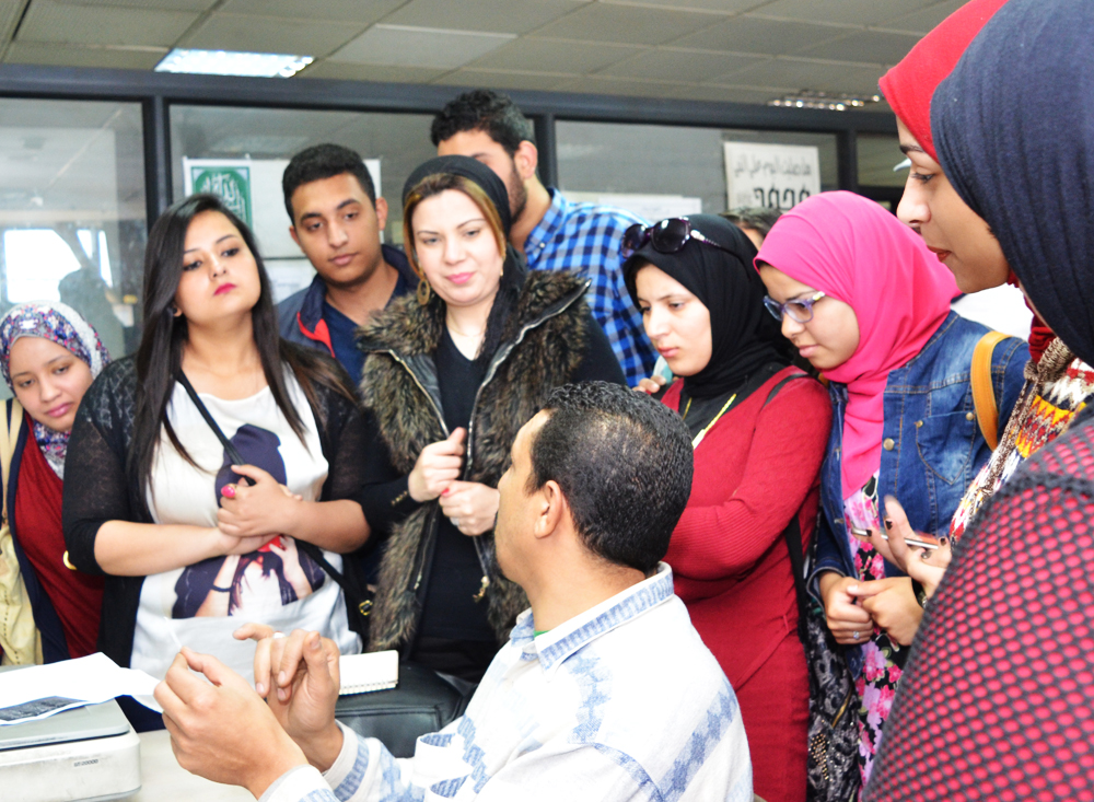 زيارة طلاب معهد الجزيرة العالي للاعلام وعلوم الاتصال   لجريدة الجمهورية
